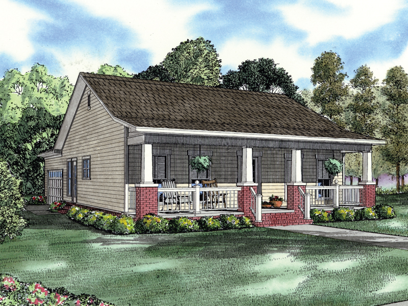 Compact, Ranch Acadian Home Plan