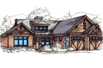 Rustic Craftsman Home With Subtle Country French Style