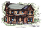 Rustic Country Two-Story Design