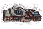 Rustic Craftsman Home With Tudor Flairs