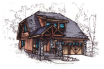 Rustic Craftsman Home With Bungalow Impressions