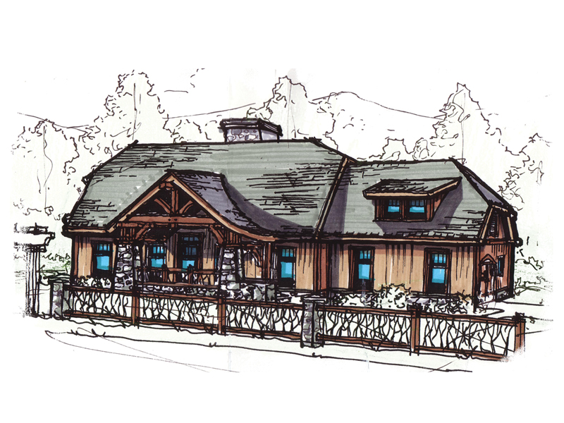 Rustic Craftsman Design With Intriguing Front