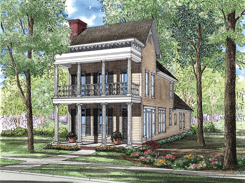 Sparkling Lake Plantation Home Plan 055D-0277 | House Plans and More
