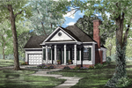 Colonial Style Ranch With Pillared Entry