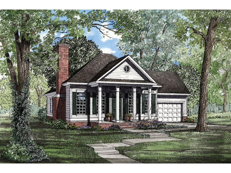 whitworth colonial ranch home plan 055d 0279 house plans