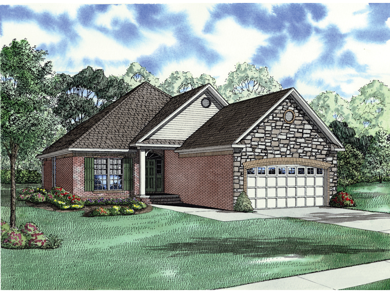 Country House Plan Front of Home - 055D-0284 | House Plans and More
