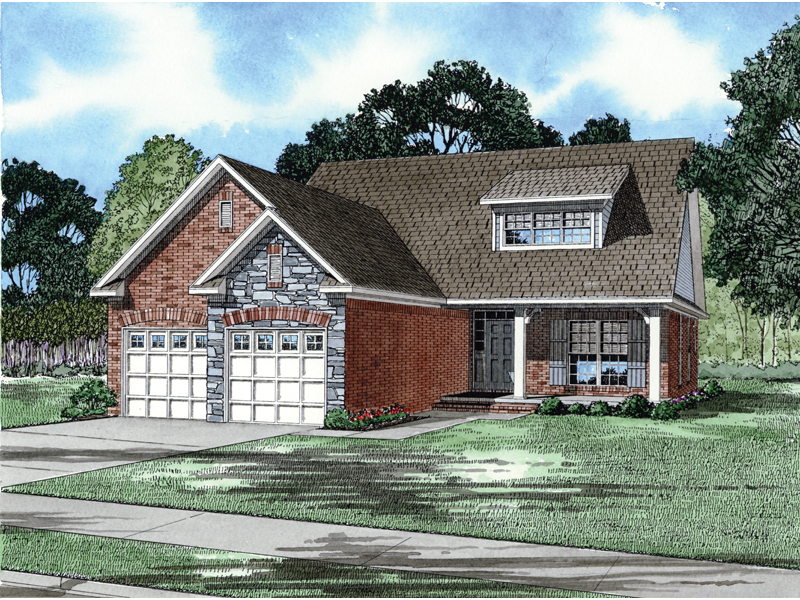 Southern House Plan Front of Home - 055D-0286 | House Plans and More