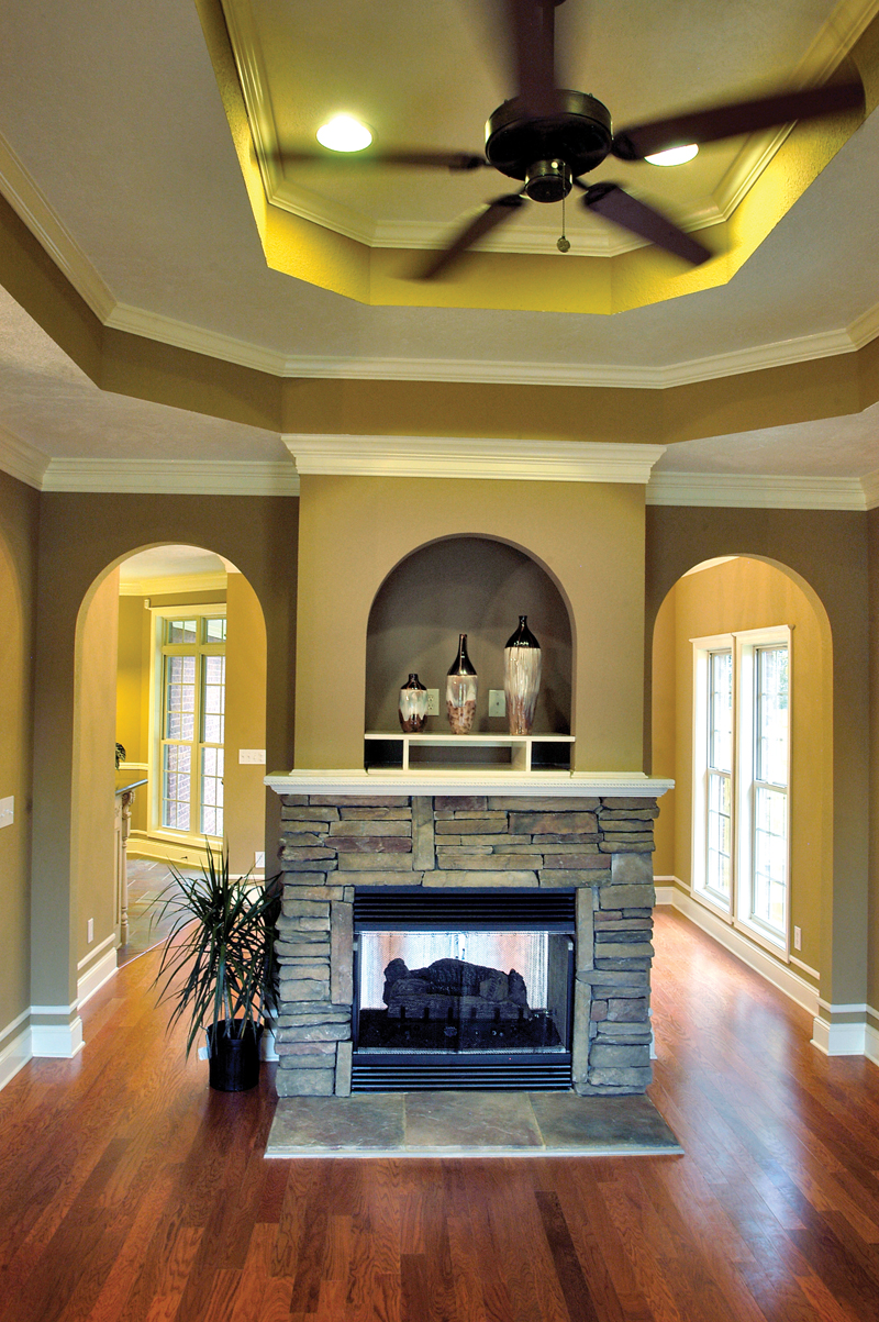 Ranch House Plan Fireplace Photo 02 055D-0289