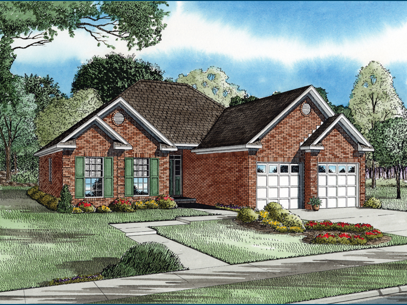 Southern House Plan Front of Home - 055D-0293 | House Plans and More