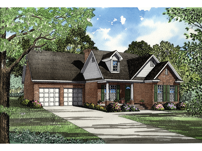 Country House Plan Front of Home - 055D-0301 | House Plans and More
