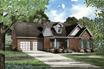 Well-Designed Home Plan With Two Garages