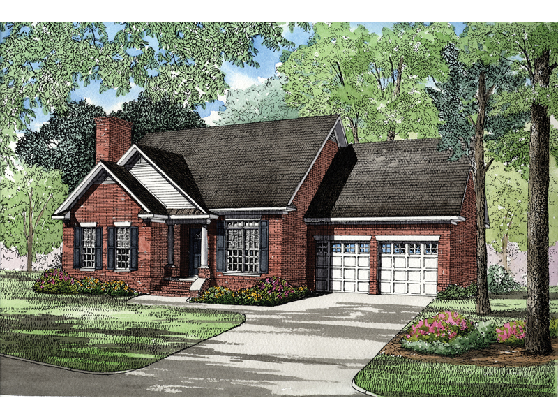 Southern House Plan Front of Home - 055D-0303 | House Plans and More