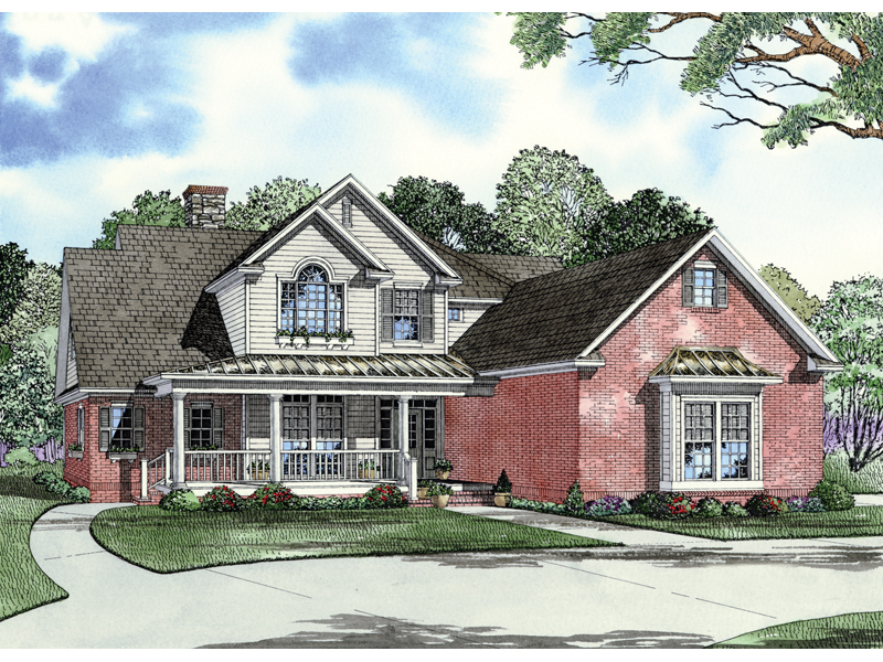Traditional House Plan Front of Home - 055D-0339 | House Plans and More