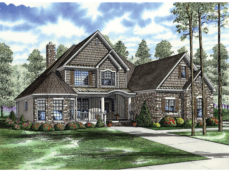 Northmoor Shingle Style Home Plan 055D-0343 | House Plans and More