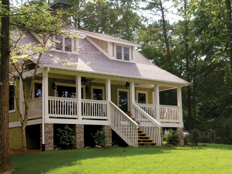 Cabin and Cottage Plan Front Photo 01 055D-0350