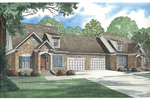 Traditional Multi-Family House Plan With Covered Front Entries