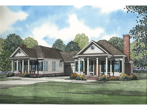 Fordshire southern duplex plan 055d 0365 house plans and for Single story multi family house plans