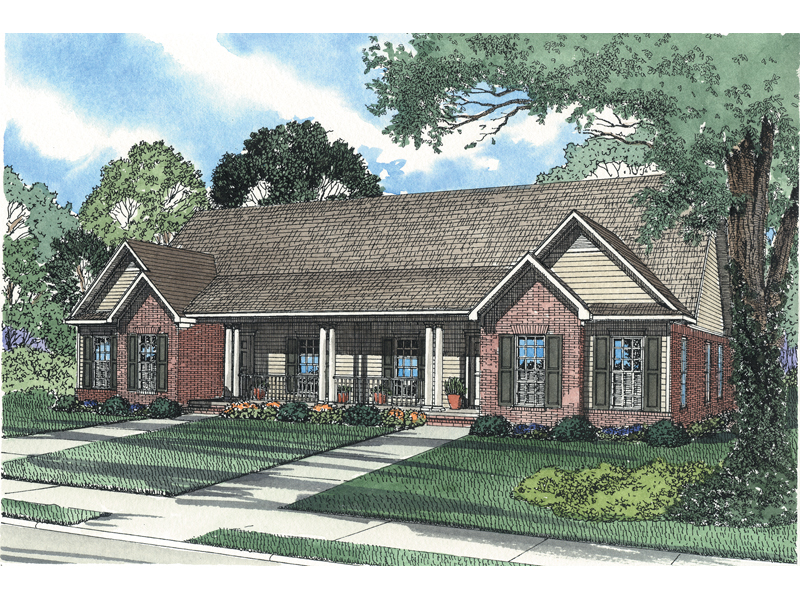 Multi-Family House Plan Front of Home - 055D-0367 | House Plans and More
