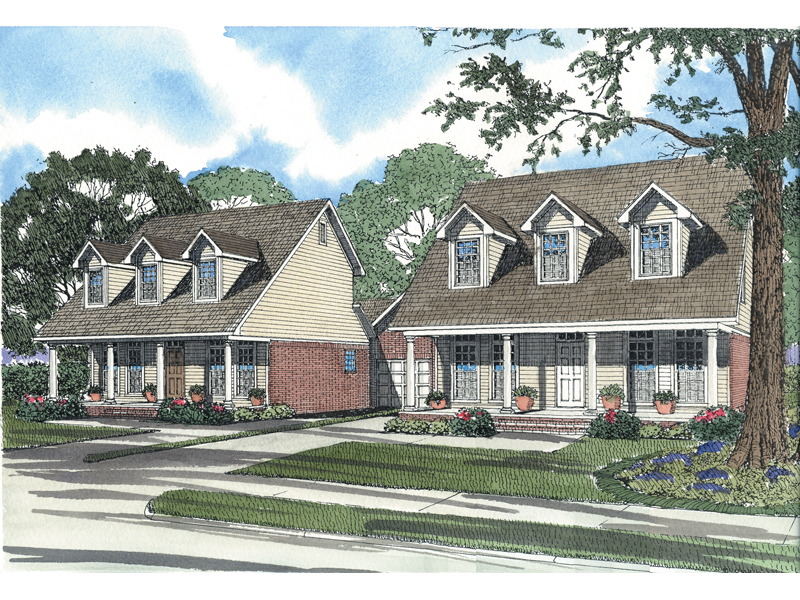Large Multi-Family Design Has Strong Cape Cod Style