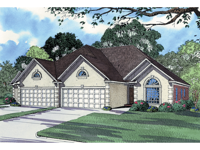 Sleek Stucco Multi-Family Design Great For Sunbelt Region