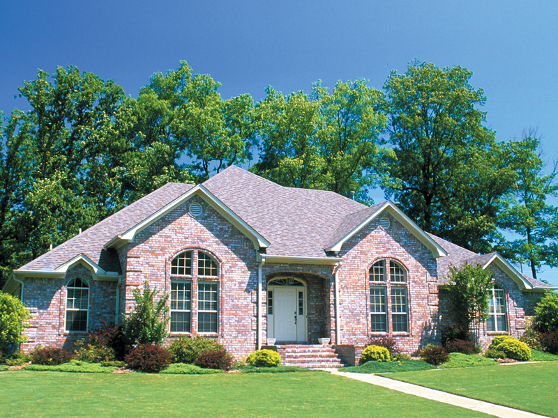 Ranch House Plan Front of Home 055D-0413