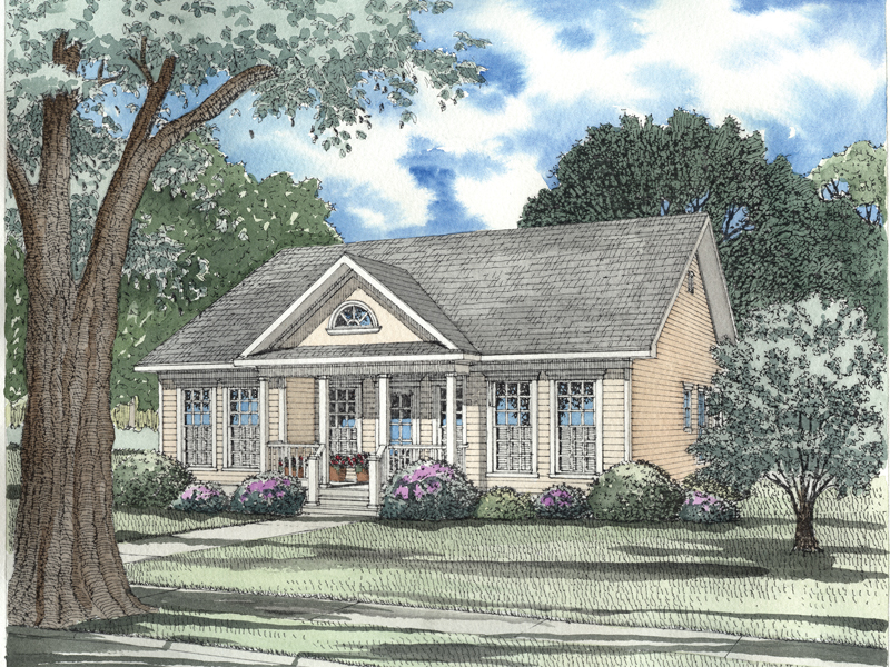 Country House Plan Front of Home - 055D-0427 | House Plans and More