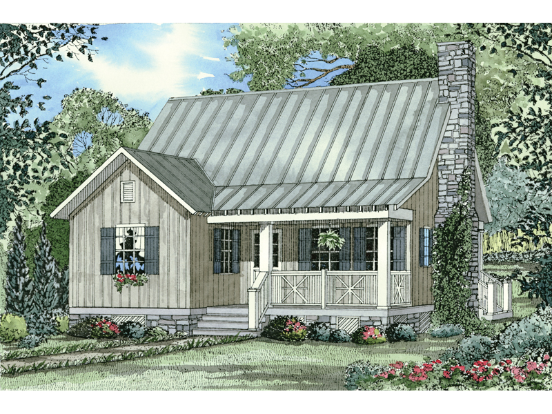 Bevo Mill Rustic Cottage Home Plan 055d 0430 House Plans
