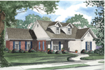 Traditional Home Incorporates Country Style With Twin Dormers