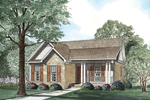 Narrow Lot Home Designed With Country Style In Mind