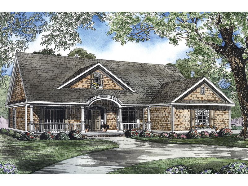 Shingle House Plan Front of Home - 055D-0441 | House Plans and More