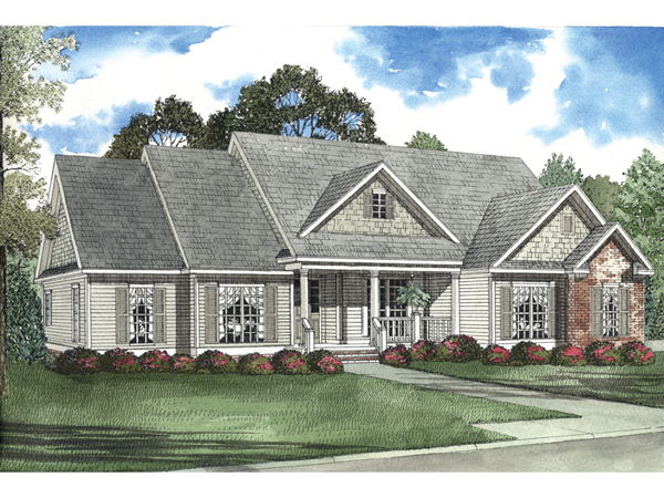 Elmwood Hill Country Ranch Home Plan 055d 0447 House