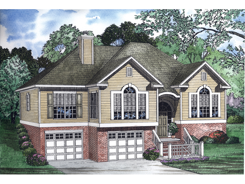 Country House Plan Front of Home - 055D-0451 | House Plans and More