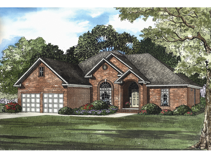 Stunning Arch Defines The Entrance Of This Lovely Brick Ranch