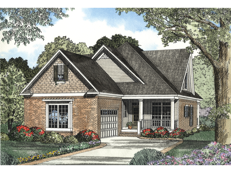 Shingle House Plan Front of Home - 055D-0480 | House Plans and More