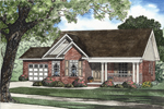 Compact Ranch Style Home Has A Wide Covered Porch