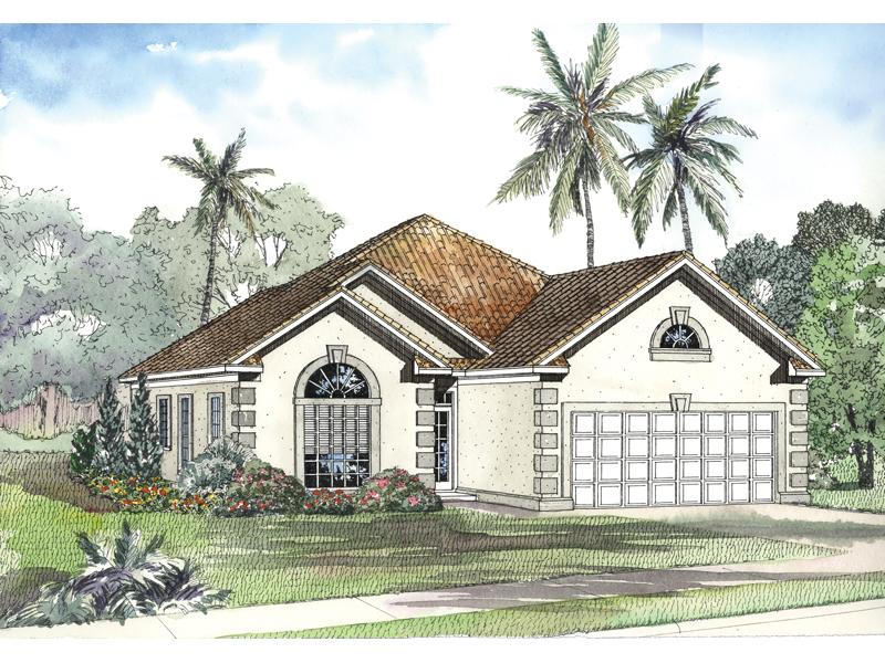 Hoffman ferry sunbelt home plan 055d 0492 house plans for Sunbelt house plans