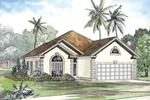 Decorative Corner Quoins Accent This Sunbelt Home