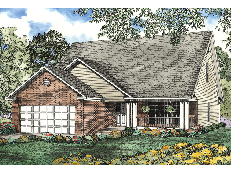 Saltbox House Plan Front of Home - 055D-0513 | House Plans and More