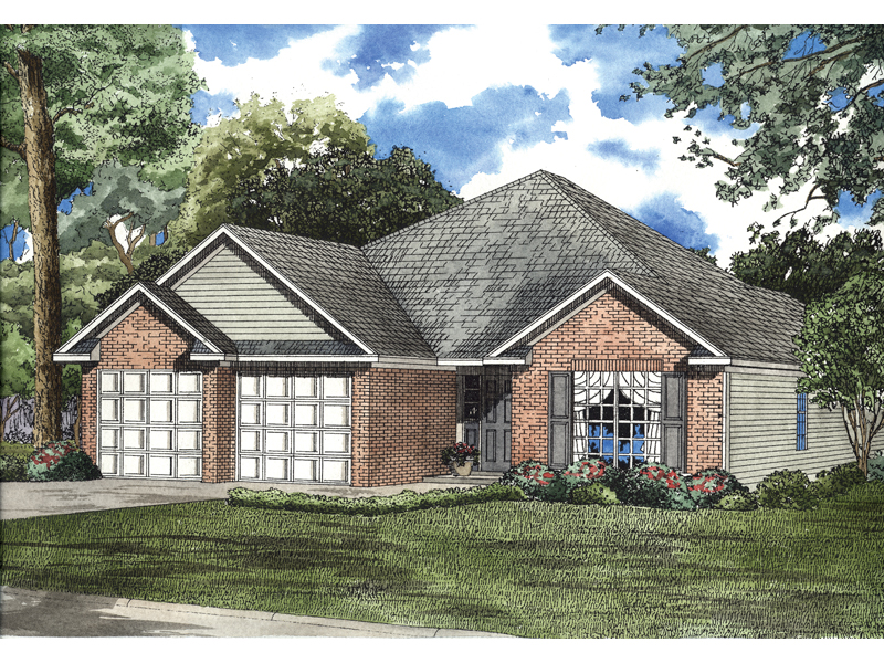 Southern House Plan Front of Home - 055D-0517 | House Plans and More