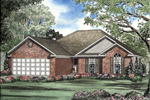 All-Brick Ranch Home Has Traditional Style