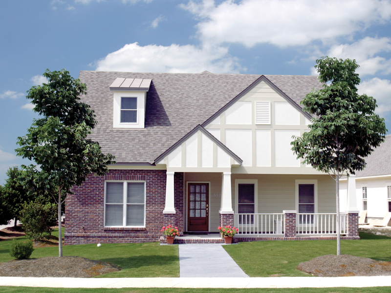 Ranch House Plan Front of Home 055D-0532
