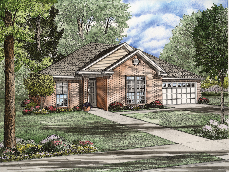 Simple, Yet Traditional Style Ranch Home With Brick Façade