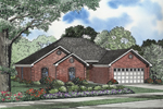 All-Brick Traditional Ranch Home Suited For A Narrow Lot