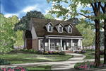 Luxury Southern Plantation With Covered Porch And Wrap-Around Baclony