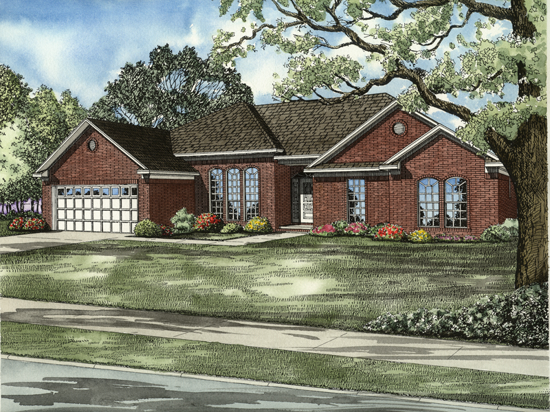 European House Plan Front of Home - 055D-0560 | House Plans and More