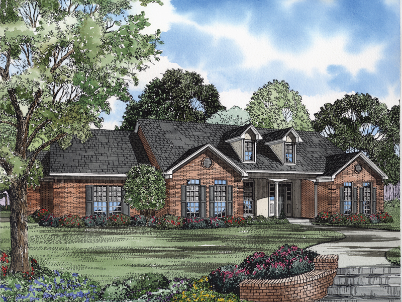 Country House Plan Front of Home - 055D-0570 | House Plans and More