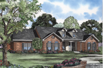 Ranch House Plan Front of Home - 055D-0570 | House Plans and More