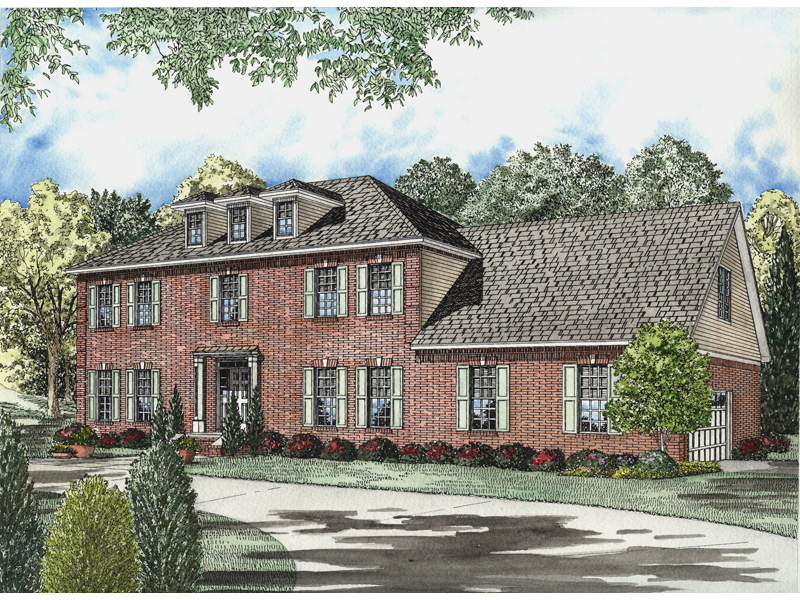 Stately Colonial House With Early American Influence