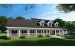Country Farmhouse Has Expansive Wrap-Around Porch With Southern Roots