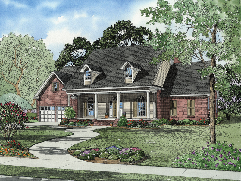 Neoclassical Home Plan Front of Home - 055D-0598 | House Plans and More